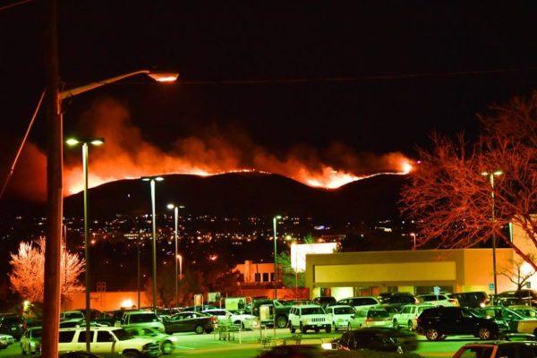 A view of the Green Mountain Fire. (Courtesy Gabe Mercado.)