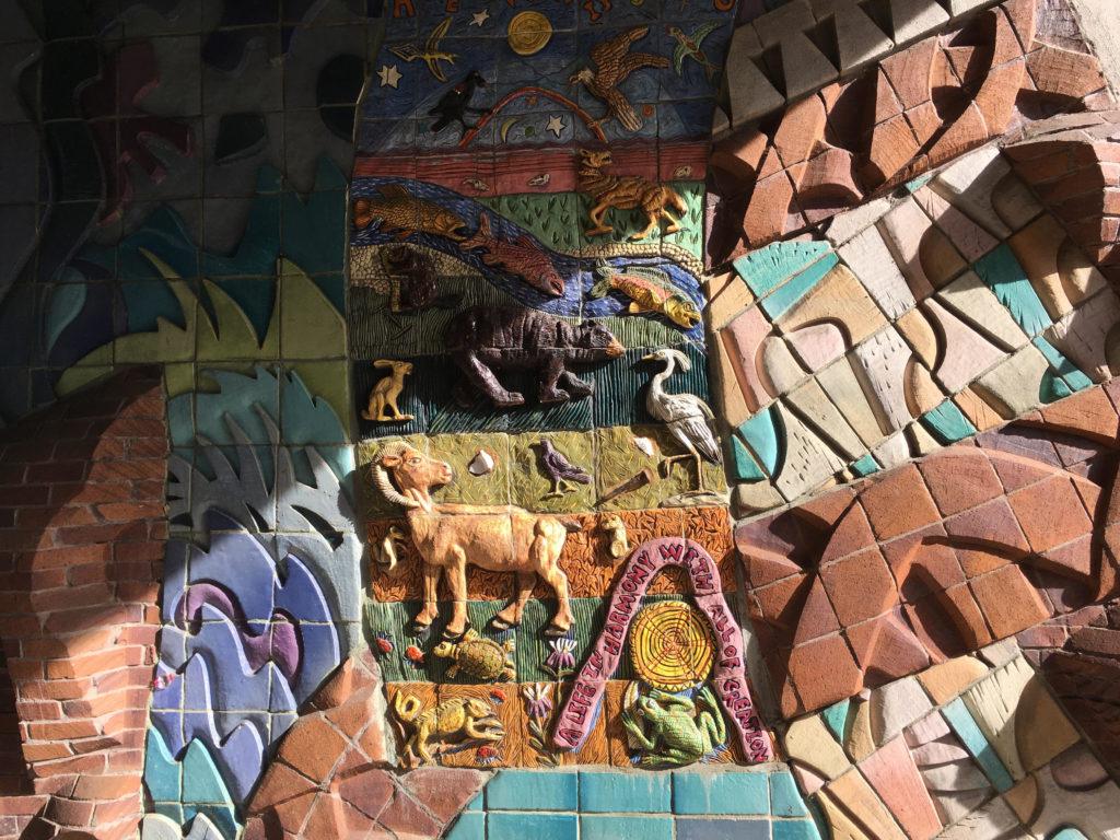 Public art on 15th Street. (Dave Burdick/Denverite)