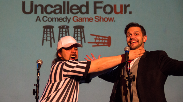Zac Maas (left) and Jake Browne of Denver-based comedy gameshow Uncalled Four. (Courtesy of Uncalled Four)