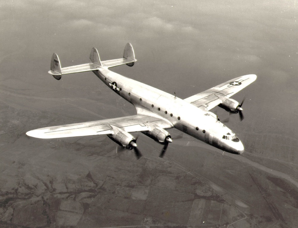 A military version of the Lockheed Constellation. (U.S. Air Force)