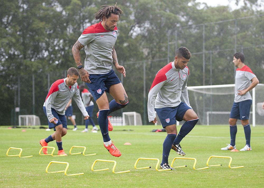 Jermaine Jones, second from left, is going to be a Galaxy next season. (IIJ Events/Flickr)