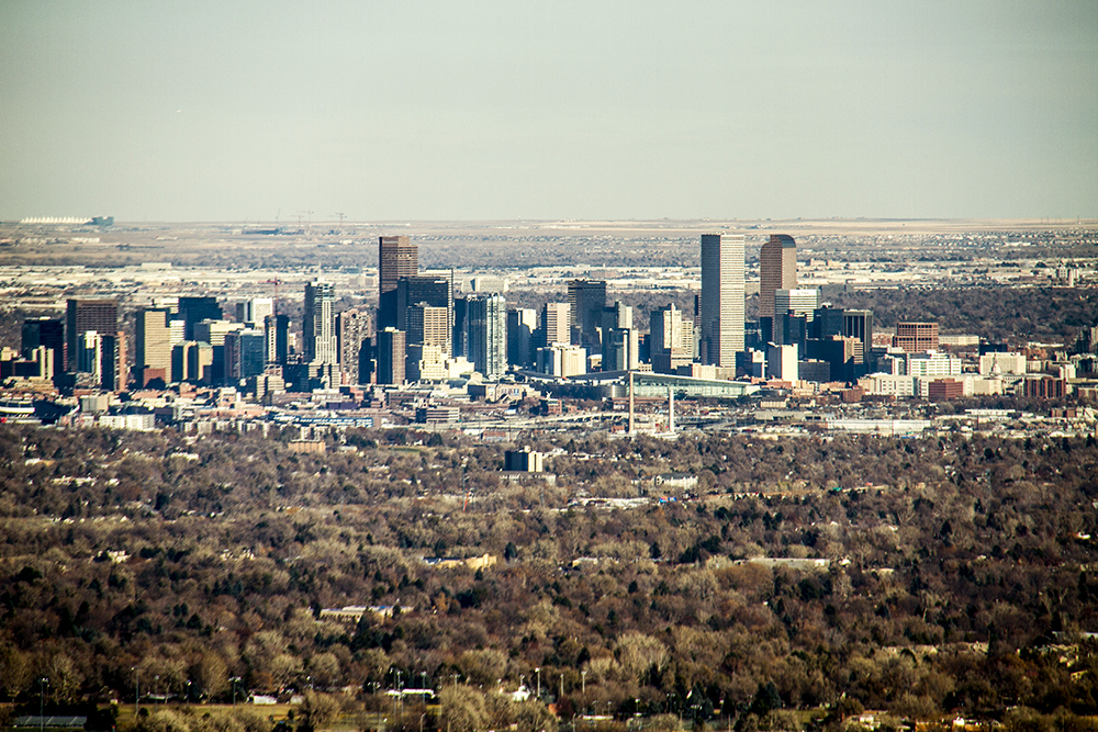 A Denver skyline, seen from Green Mountain. (Kevin J. Beaty/Denverite)  skyline; cityscape; denver; denverite; colorado