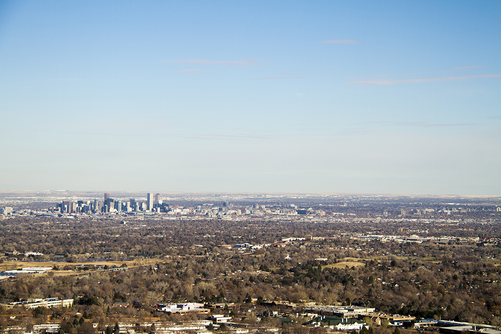 A Denver skyline, seen from Green Mountain. (Kevin J. Beaty/Denverite)  skyline; cityscape; denver; denverite; colorado