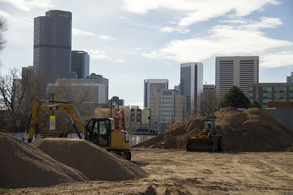 26th and Lawrence. (Kevin J. Beaty/Denverite)  vacant lots; development; construction; denver; colorado; kevinjbeaty;