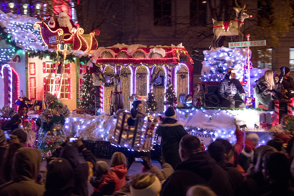 The big man himself. Parade of lights. Dec. 2, 2016. (Kevin J. Beaty/Denverite)  parade of lights; holiday; christmas; civic center; kevinjbeaty; denver; denverite; colorado;