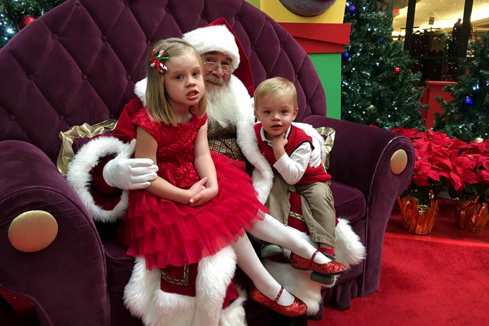 Town Center at Aurora brought Santa to kids with special needs. (Chloe Aiello/Denverite)