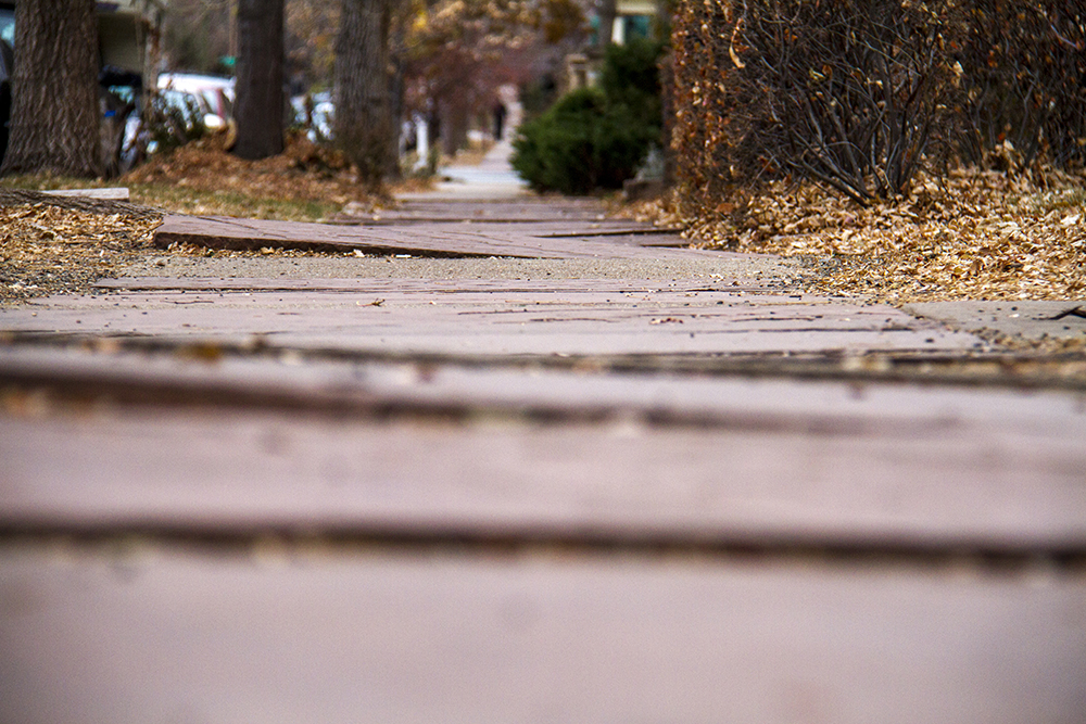 Sidewalks in Capitol Hill. (Kevin J. Beaty/Denverite)