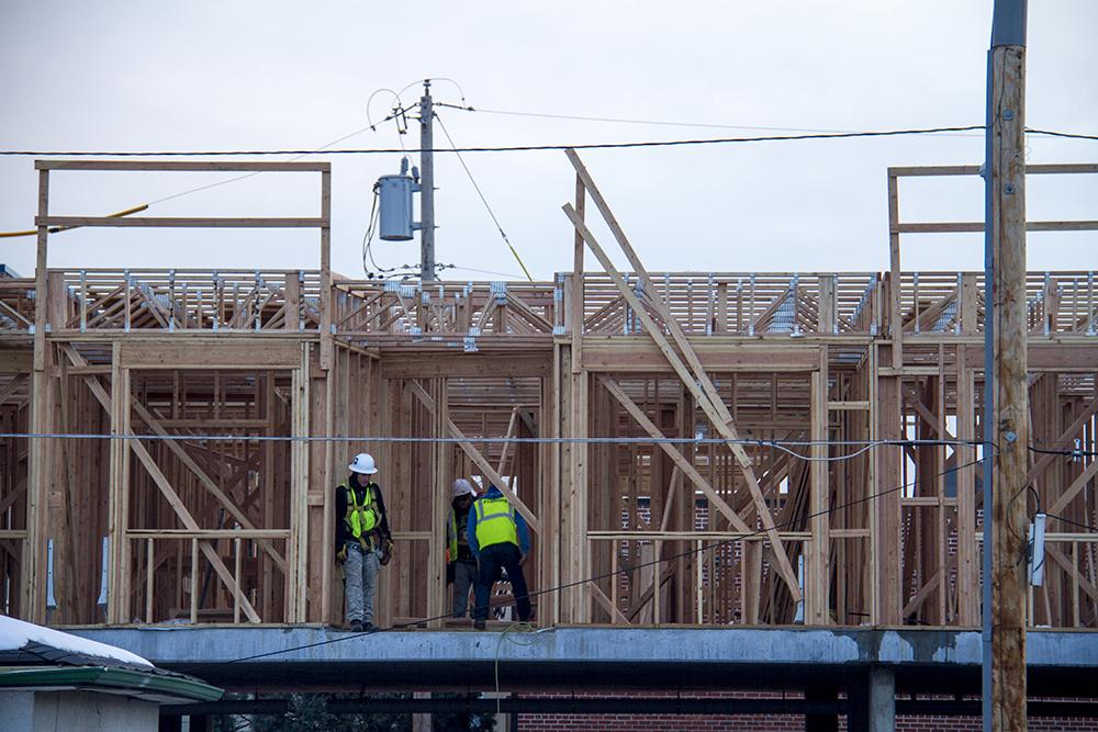Construction in Jefferson Park. (Kevin J. Beaty/Denverite)  federal boulevard; development; planning; bid; kevinjbeaty; denver; denverite; colorado;
