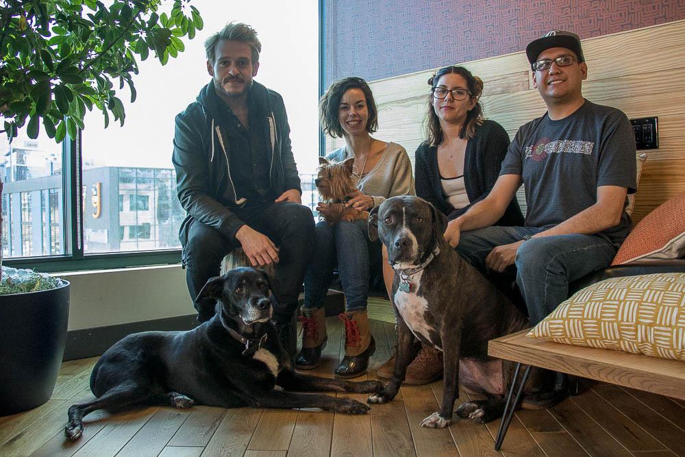 DJ Shott, Natasha Irizarry, Rissy Irizarry and Chilton Brown sit for a protrait. (Chloe Aiello/Denverite)