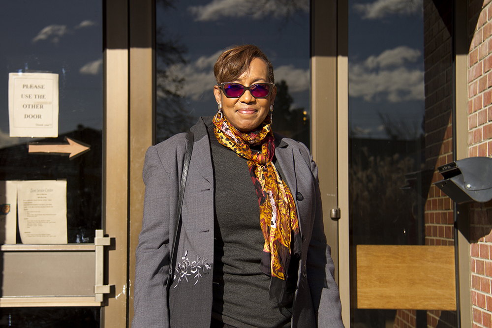 Halisi Vinson, president of Colorado Black Women for Political Action. The 2016 Kwanzaa Elders Luncheon at Zion Senior Center in Northeast Park Hill. Dec. 28, 2016. (Kevin J. Beaty/Denverite)  kwanzaa; culture; kevinjbeaty; denver; denverite; northeast park hill; colorado;