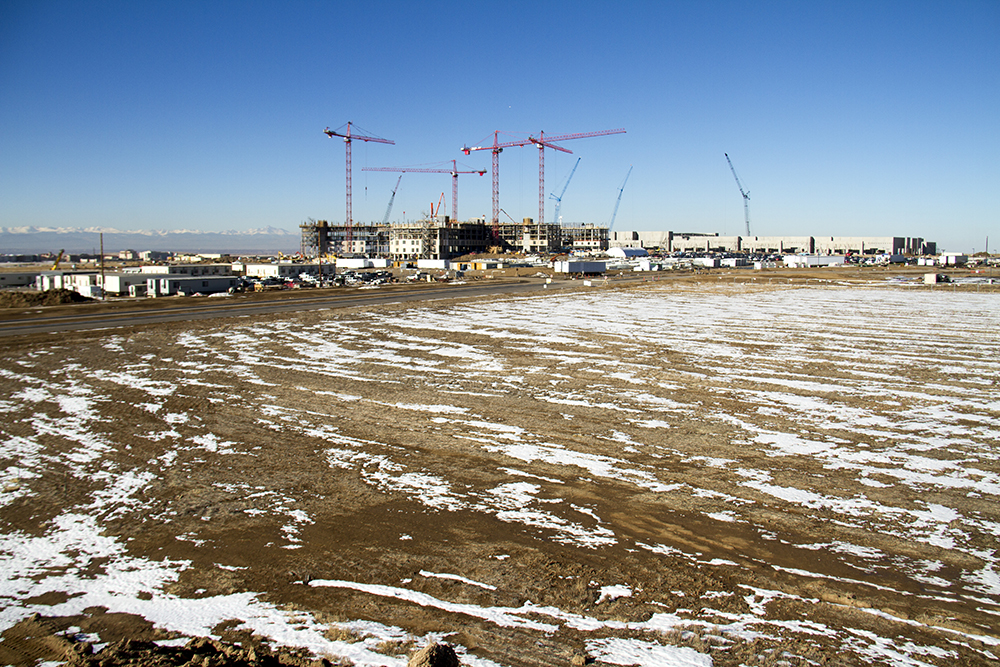 Construction of a the Gaylord Rockies Resort and Convention Center near DIA. (Kevin J. Beaty/Denverite)  construction; development; denver; denverite; colorado; winter; kevinjbeaty;