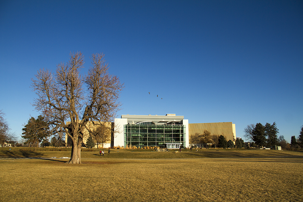 Denver Museum of Nature and Science. (Kevin J. Beaty/Denverite)  city park; denver; denverite; colorado; winter; kevinjbeaty;