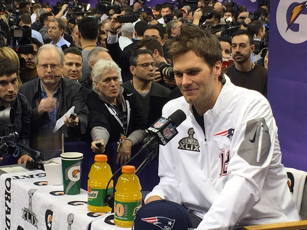 Tom Brady is enjoying one of the best seasons of his career at 39. (WEBN-TV/Flickr)