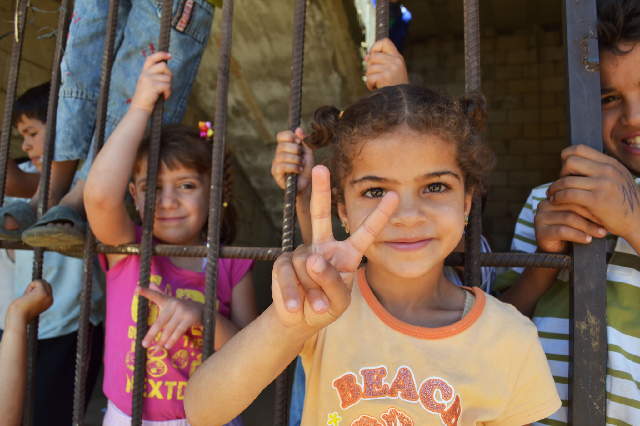 Syrian refugee children near Reyfoun. (Eoghan Rice, Trócaire/Flickr)