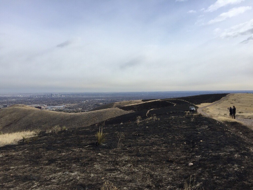 The Green Mountain Fire scar. (West Metro Fire Rescue)