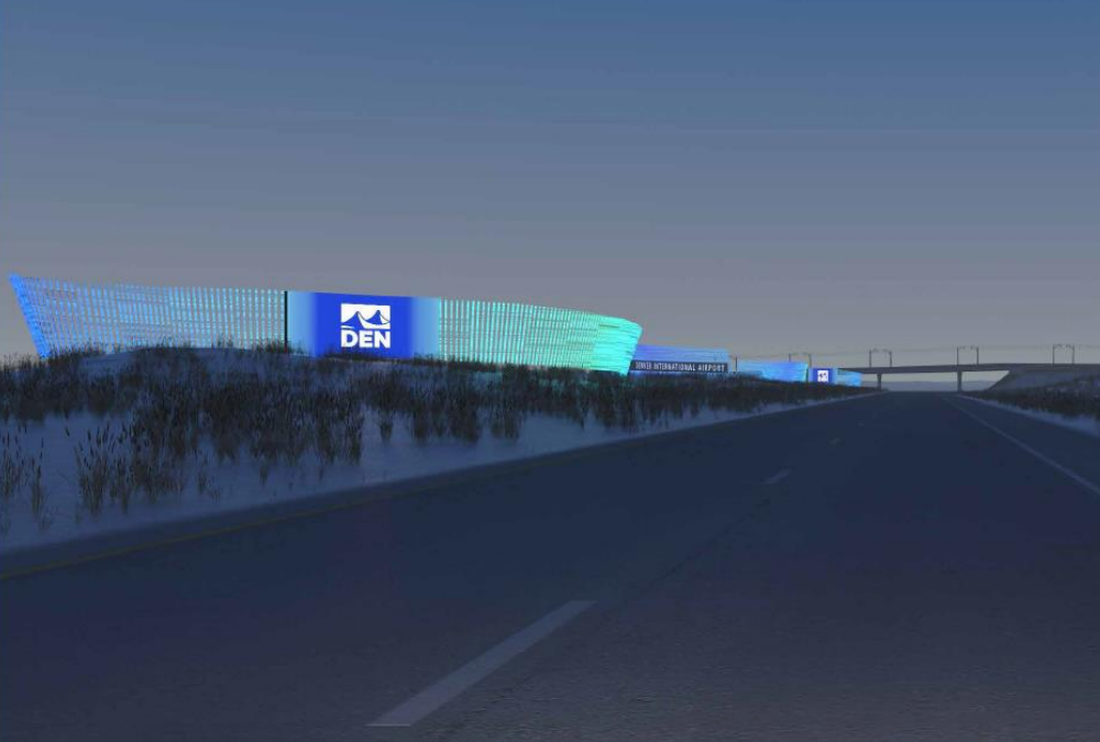 A rendering of a planned $11.5 million sign for Denver International Airport. (Denver International Airport)