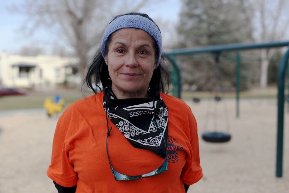 Rita Roblevo, 54, got a full-time seasonal job through Denver Day Works. (Andrew Kenney/Denverite)