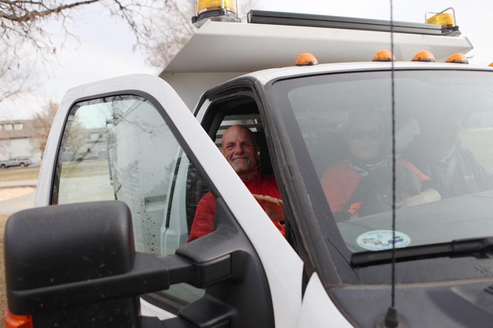 Danny Tims, Jr., 48, got a full-time seasonal job through Denver Day Works. (Andrew Kenney/Denverite)