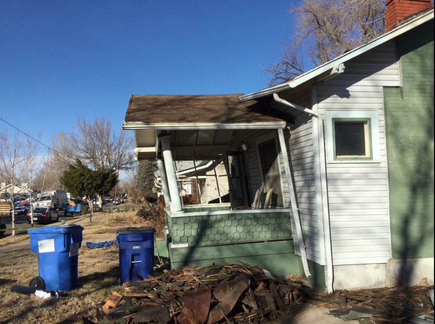 The scene of a roof collapse in Englewood. (Denver Fire Department)