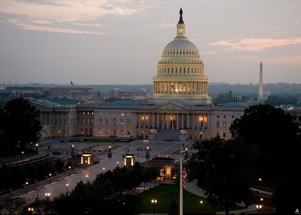 Night descends on the U.S. Capitol. (Architect of the Capitol)