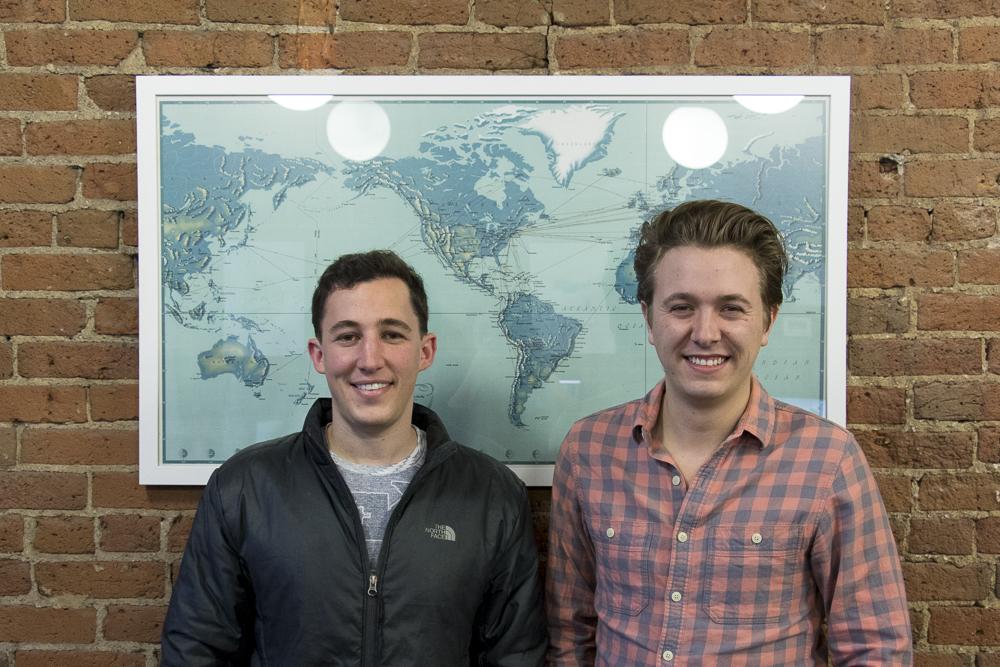 Sam Felsenthal and Devon Tivona, co-founders of Pana, pose for a portrait. (Chloe Aiello/Denverite)