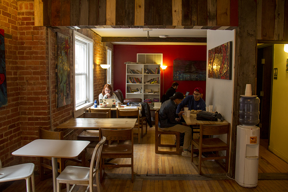 Roostercat Coffee House on Lincoln Street. (Kevin J. Beaty/Denverite)  coffee shop; capitol hill; food; denver; denverite; colorado; kevinjbeaty;