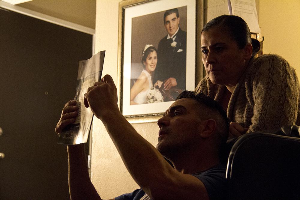 Isidro Quintana and his wife Erica at home, Jan. 4, 2017. (Kevin J. Beaty/Denverite)  isidro quintana; kevinjbeaty; denverite; denver; colorado; immigration; deportation;