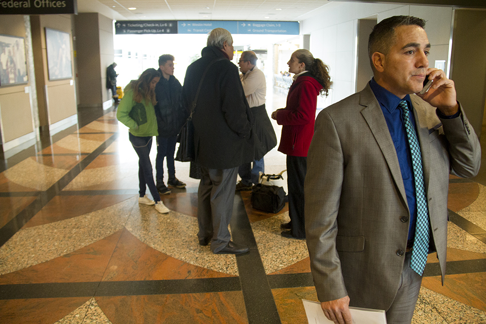 Isidro Quintana goes to the airport for a scheduled meeting with Homeland Security, Jan. 5, 2017. (Kevin J. Beaty/Denverite)  isidro quintana; kevinjbeaty; denverite; denver; colorado; immigration; deportation