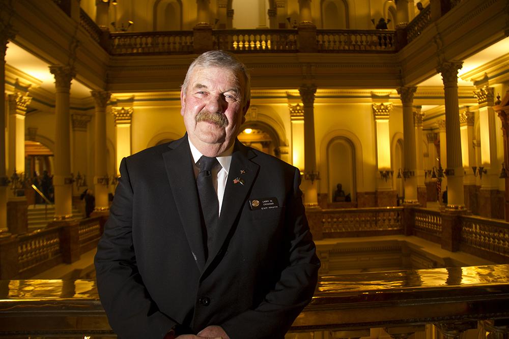 District 35 Senator Larry Crowder. The first day of the Colorado state legislative session. Jan 11, 2017. (Kevin J. Beaty/Denverite)  legislature; copolitics; politics; legislative session; capitol; kevinjbeaty; denver; denverite; colorado;