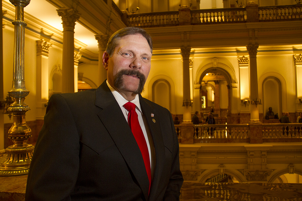 Sen. Randy Baumgardner. The first day of the Colorado state legislative session. Jan 11, 2017. (Kevin J. Beaty/Denverite)  legislature; copolitics; politics; legislative session; capitol; kevinjbeaty; denver; denverite; colorado;