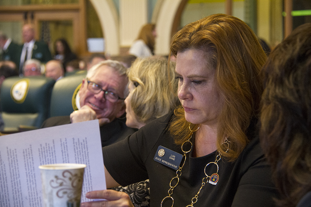 District 63 Representative Lori Saine. The first day of the Colorado state legislative session. Jan 11, 2017. (Kevin J. Beaty/Denverite)  legislature; copolitics; politics; legislative session; capitol; kevinjbeaty; denver; denverite; colorado;