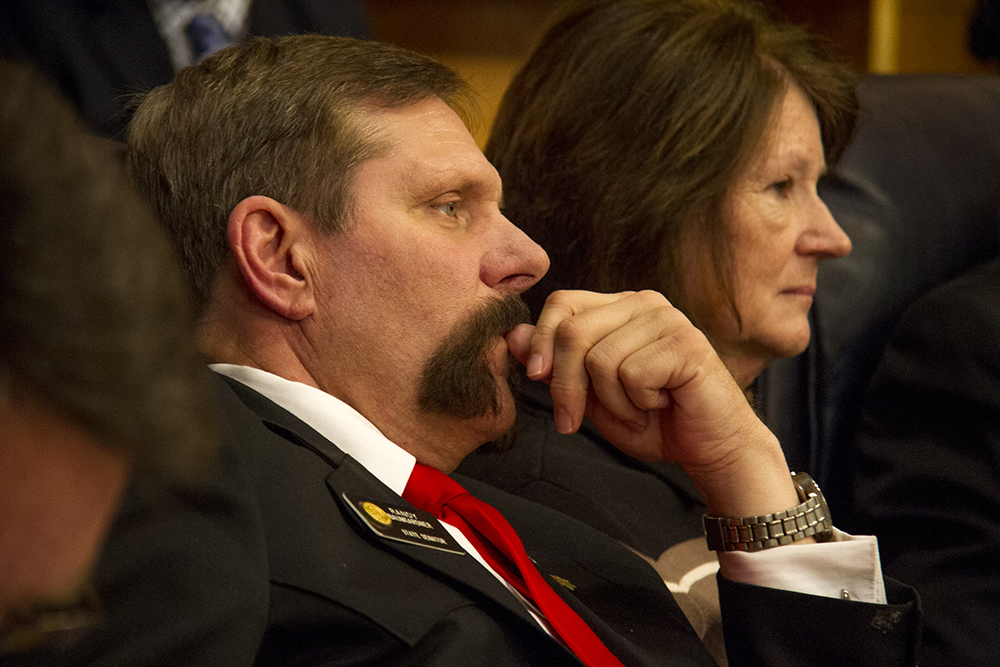 District 8 Senator Randy Baumgardner. The first day of the Colorado state legislative session. Jan 11, 2017. (Kevin J. Beaty/Denverite)  legislature; copolitics; politics; legislative session; capitol; kevinjbeaty; denver; denverite; colorado;