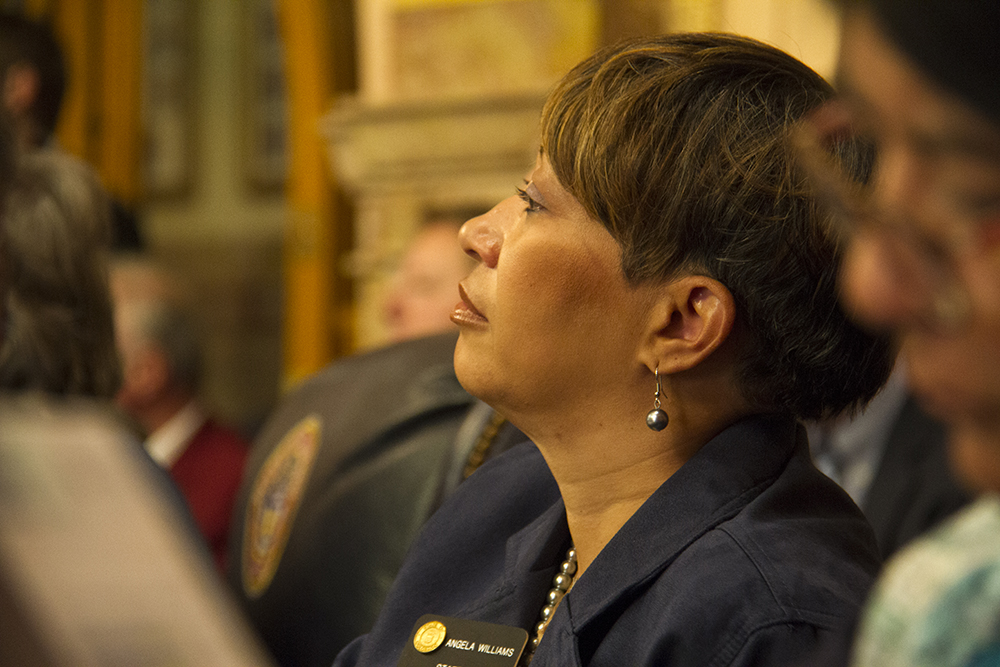 District 33 Senator Angela Williams. The first day of the Colorado state legislative session. Jan 11, 2017. (Kevin J. Beaty/Denverite)