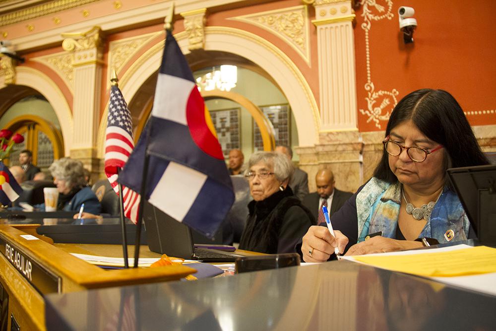 District 32 Senator Irene Aguilar. The first day of the Colorado state legislative session. Jan 11, 2017. (Kevin J. Beaty/Denverite)