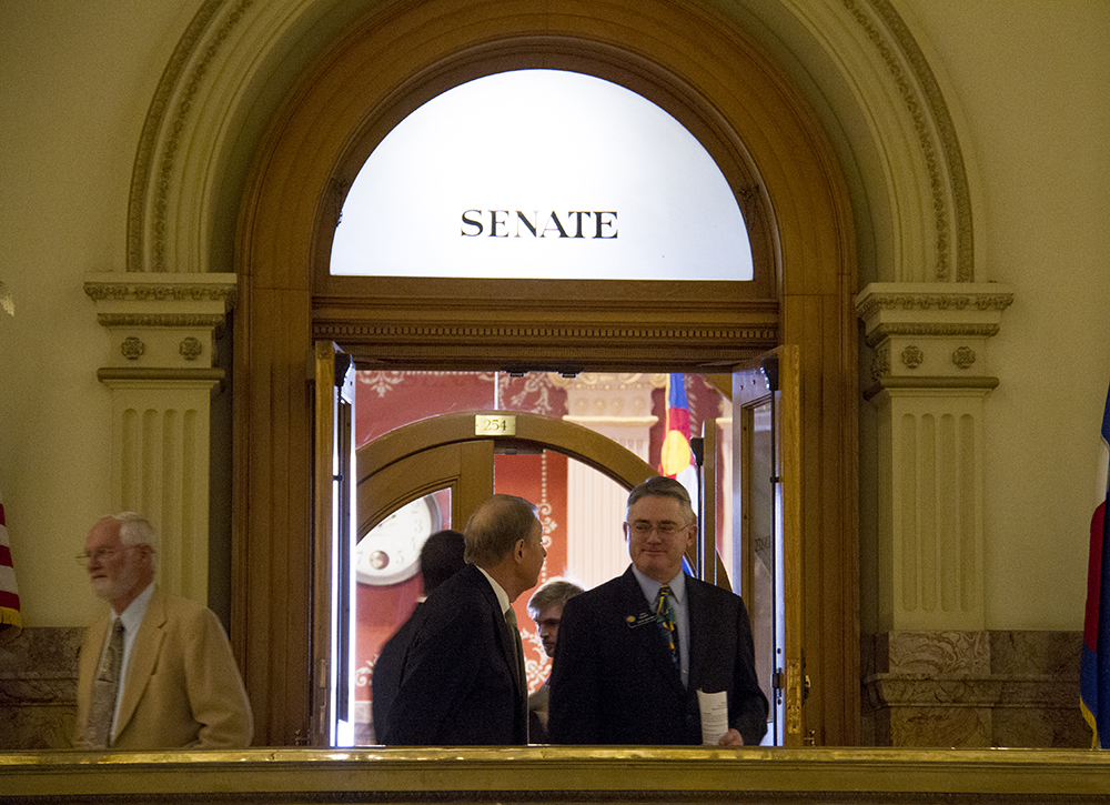 District 30 Senator and majority leader Chris Holbert and outside the Senate chambers. Jan. 12, 2017. (Kevin J. Beaty/Denverite)  state of the state; copolitics; politics; governor john hickenlooper; capitol; kevinjbeaty; colorado; denver; denverite;