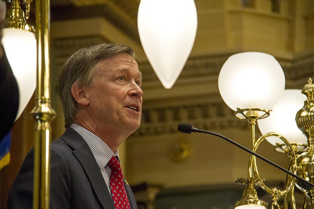 Colorado Governor John Hickenlooper's annual State of the State Address. Jan. 12, 2017. (Kevin J. Beaty/Denverite)  state of the state; copolitics; politics; governor john hickenlooper; capitol; kevinjbeaty; colorado; denver; denverite;