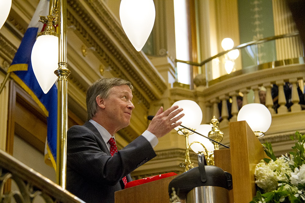 Colorado Governor John Hickenlooper's annual State of the State Address. Jan. 12, 2017. (Kevin J. Beaty/Denverite)  state of the state; copolitics; politics; governor john hickenlooper; capitol; kevinjbeaty; colorado; denver; denverite;