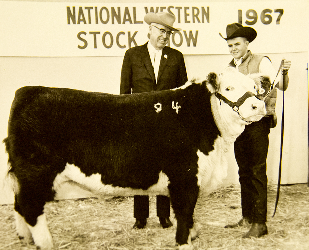 The National Western Stock Show Junior Livestock Sale, 1967. (Denver Public Library/Western History Collection/Denver Metro Chamber of Commerce Records)  denver; denverite; denver public library; western history collection; archive; archival; National Western Stock Show; nwss;