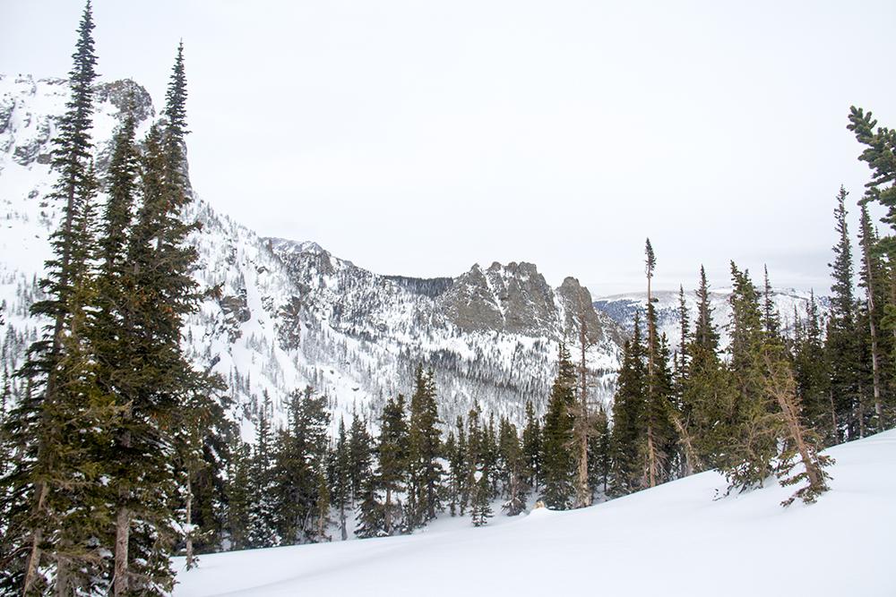 Rocky Mountain National Park. Jan. 15, 2017. (Kevin J. Beaty/Denverite)  nature; rocky mountain national park; snowshoe; hike; winter; weather; kevinjbeaty; denverite; colorado;