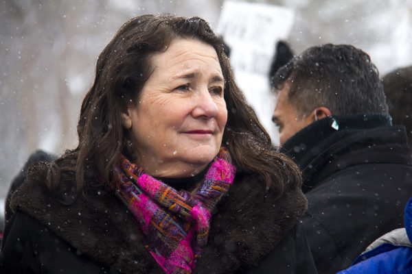 U.S. Representative Diana DeGette at the Martin Luther King Jr. Marade, Jan. 16, 2017. (Kevin J. Beaty/Denverite)  mlk; marade; martin luther king jr; city park; denver; colorado; kevinjbeaty;