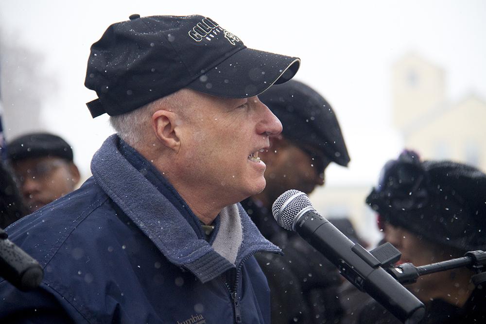 U.S. Representative Mike Coffman. The Martin Luther King Jr. Marade, Jan. 16, 2017. (Kevin J. Beaty/Denverite)  mlk; marade; martin luther king jr; city park; denver; colorado; kevinjbeaty;