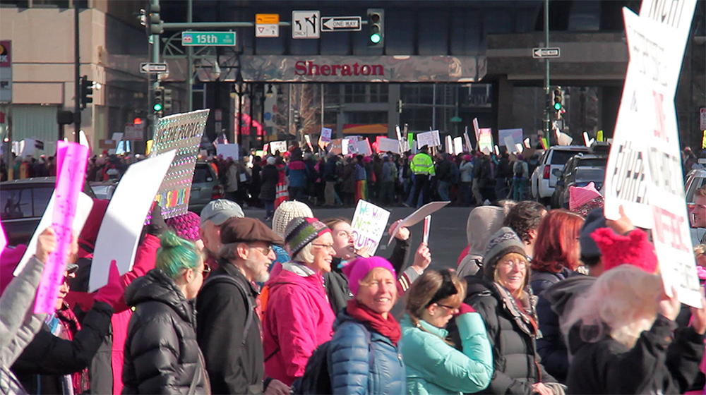 The end and start of the Denver Women's March, Jan. 21, 2017. (Kevin J. Beaty/Denverite)