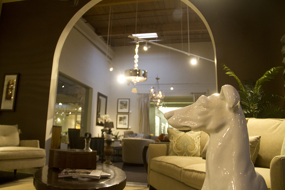 The Denver Design District's various wares. (Kevin J. Beaty/Denverite)  wholesale; furniture; interior design; herbert bayer; public art; articulated wall; denver design district; denver; denverite; kevinjbeaty; colorado;