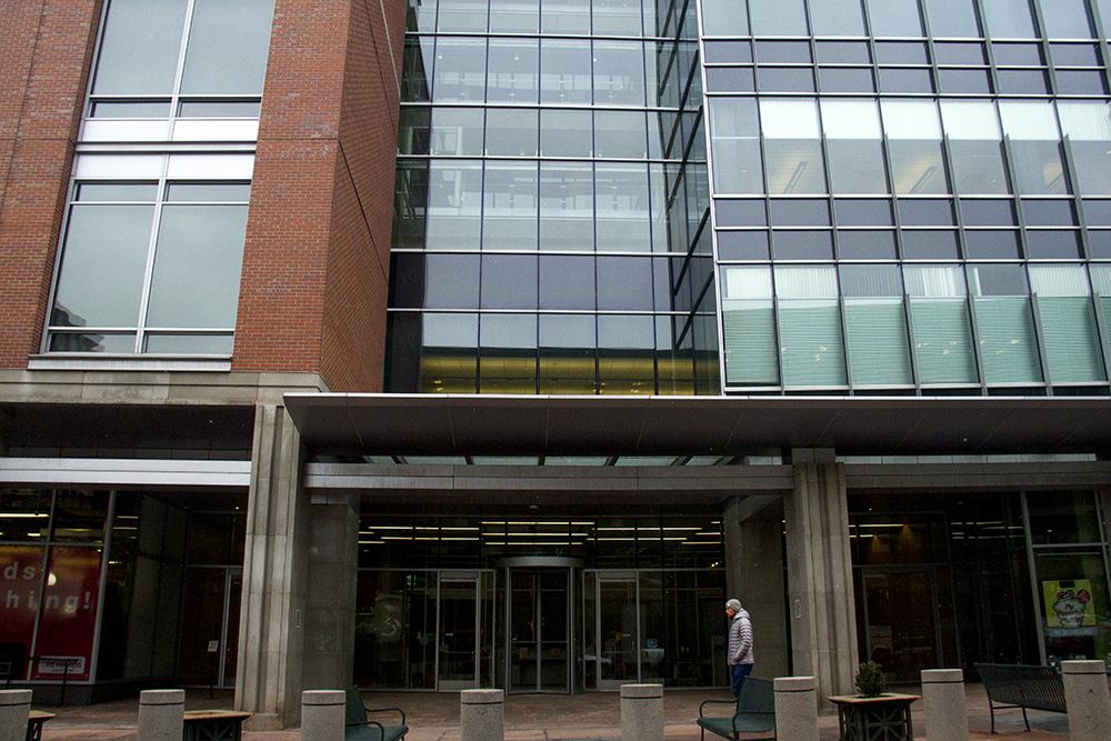 Denver's EPA headquarters. on 16th Street at Wynkoop. (Kevin J. Beaty/Denverite)  epa; federal government; denver; colorado; kevinjbeaty