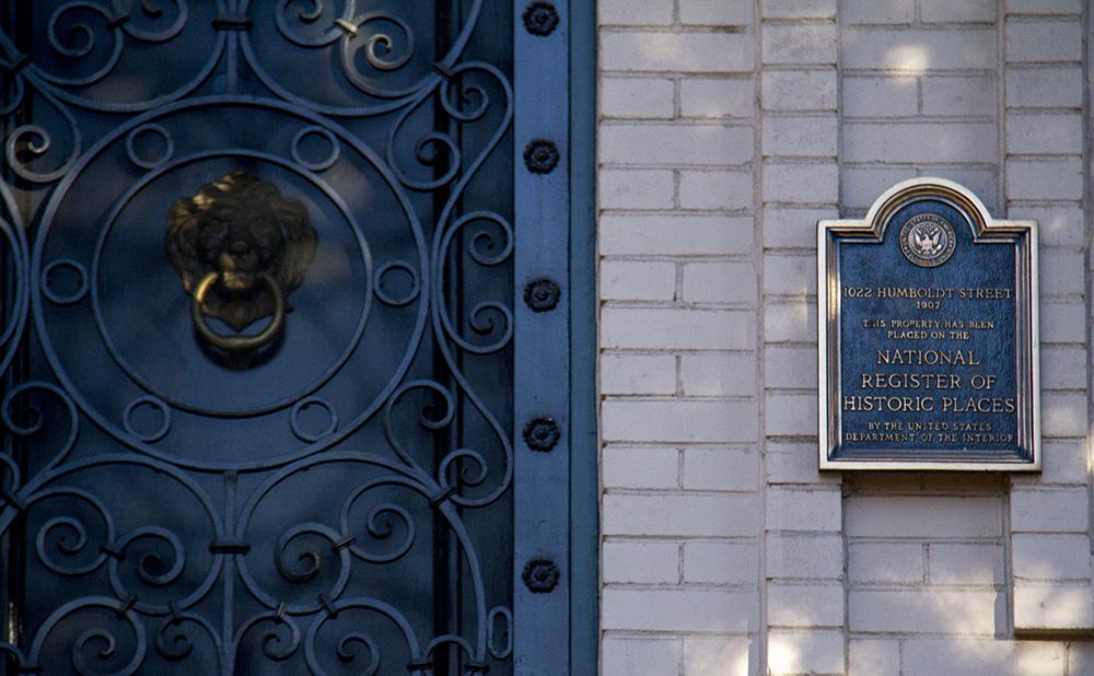 Stoiberhof, the historic mansion at 1022 Humboldt Street. (Kevin J. Beaty/Denverite)  denver; historic; residential real estate; mansion; kevinjbeaty; denverite; colorado;