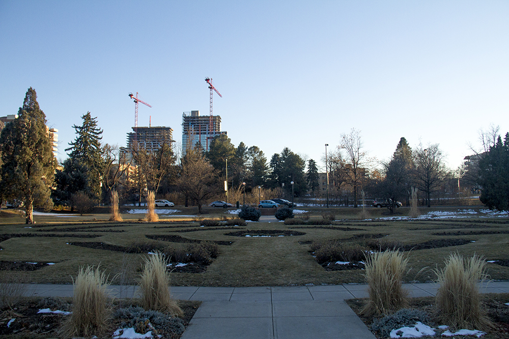 Alamo Placita Park, which was once Chutes Park, now bordering Speer Boulevard at Emerson Street. (Kevin J. Beaty/Denverite)  denver; historic; mansion; kevinjbeaty; denverite; colorado;