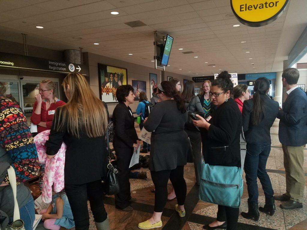 Inside Denver International Airport on Sunday Jan. 29, 2017. (Megan Arellano/Denverite)