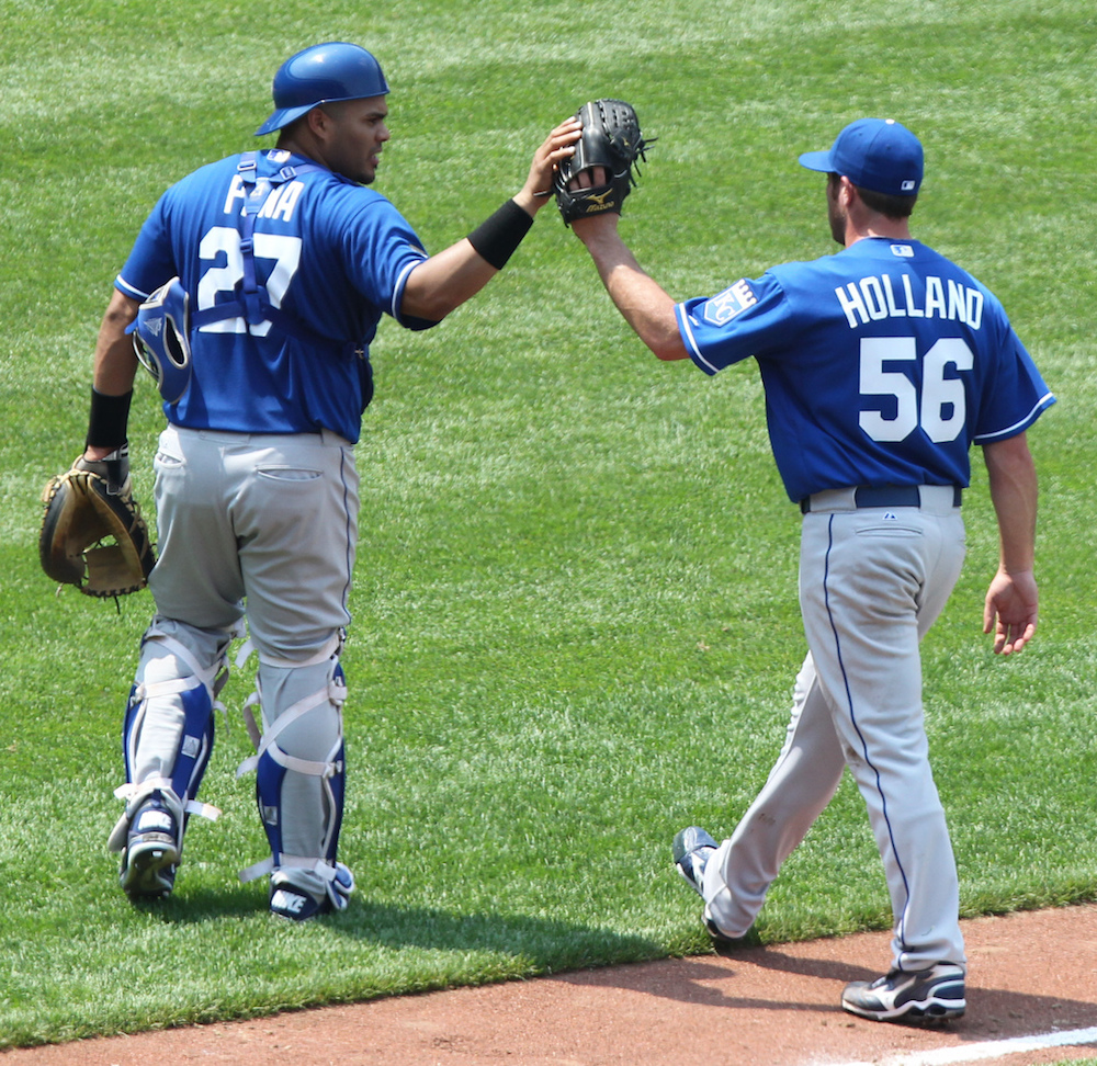 Greg Holland, right, is reportedly nearing a deal with the Rockies. (Keith Allison/Flickr)