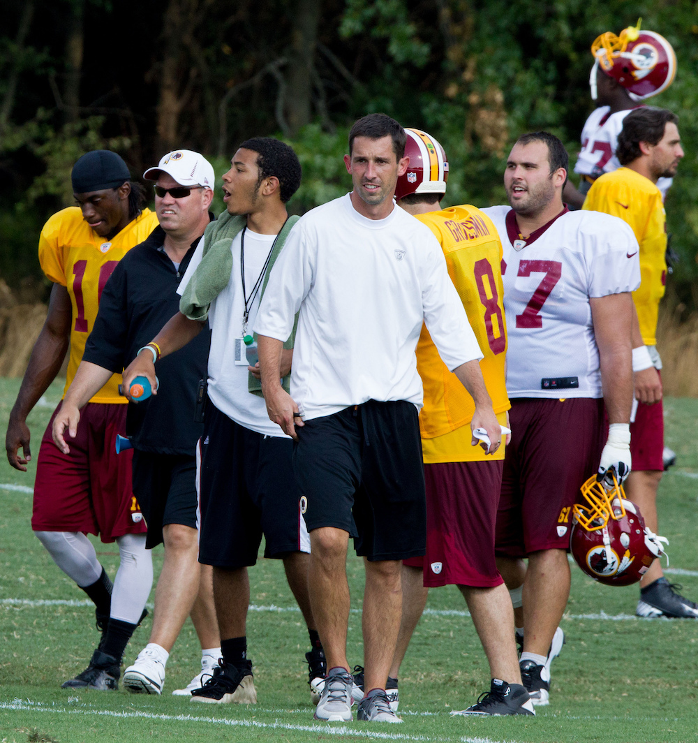 The Broncos will reportedly interview Kyle Shanahan. (Keith Allison/Flickr)