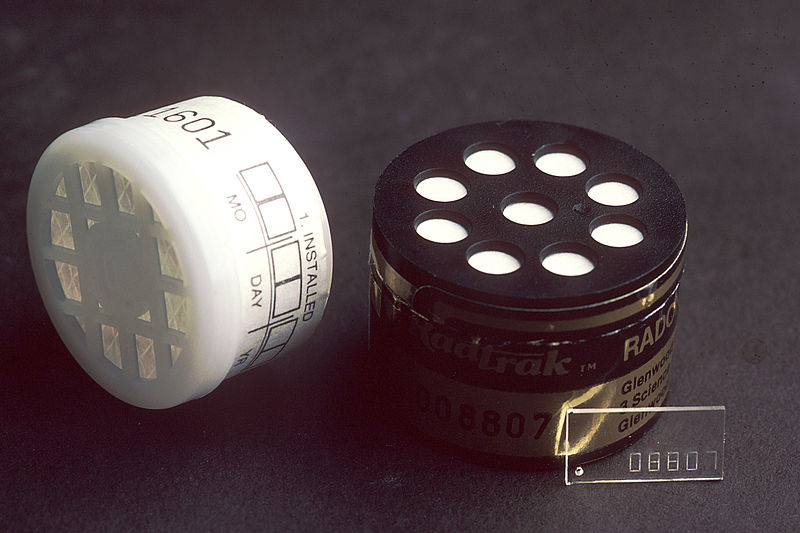 Radon test kit. (GrrlScientist/Flickr)